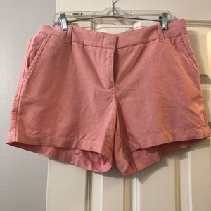 Salmon colored J Crew shorts